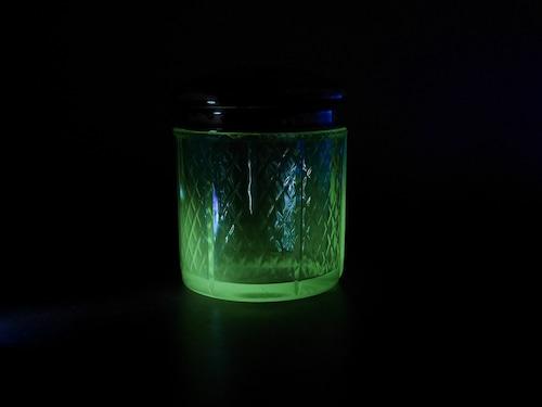 EAPG ウランガラス ヴァニティジャー ビンテージ カケあり