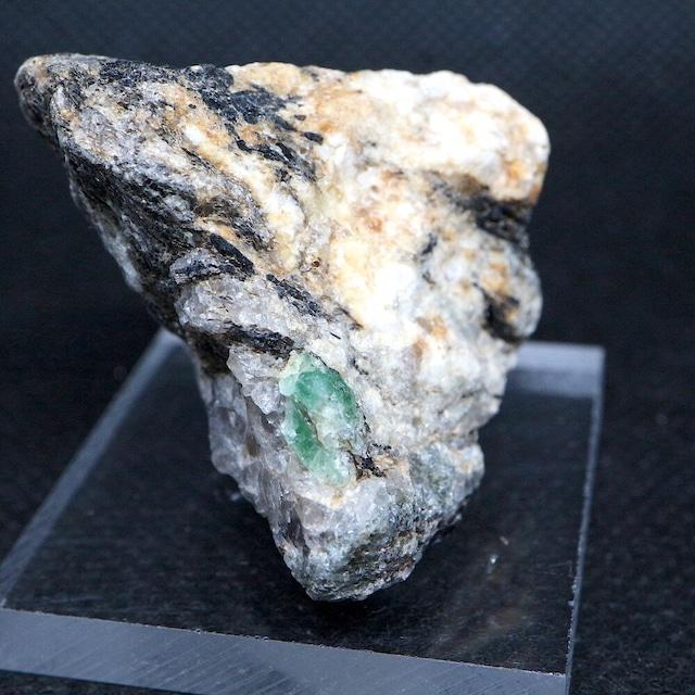 ノースカロライナ産 エメラルド 原石 標本 鉱物 25g ED056 ベリル 緑柱石 パワーストーン 天然石