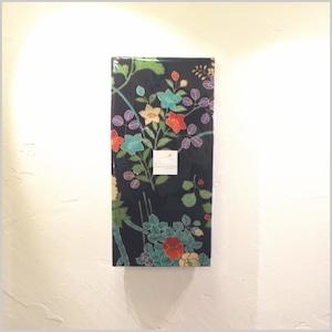 古布|桔 梗 と 牡 丹 と 花 水 木 size H25cm W12cm