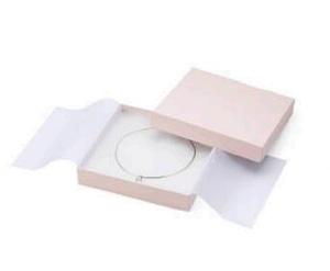 アクセサリー紙箱かぶせ式フリータイプ ネックレス・オメガネック用 6個入り PC-373-F