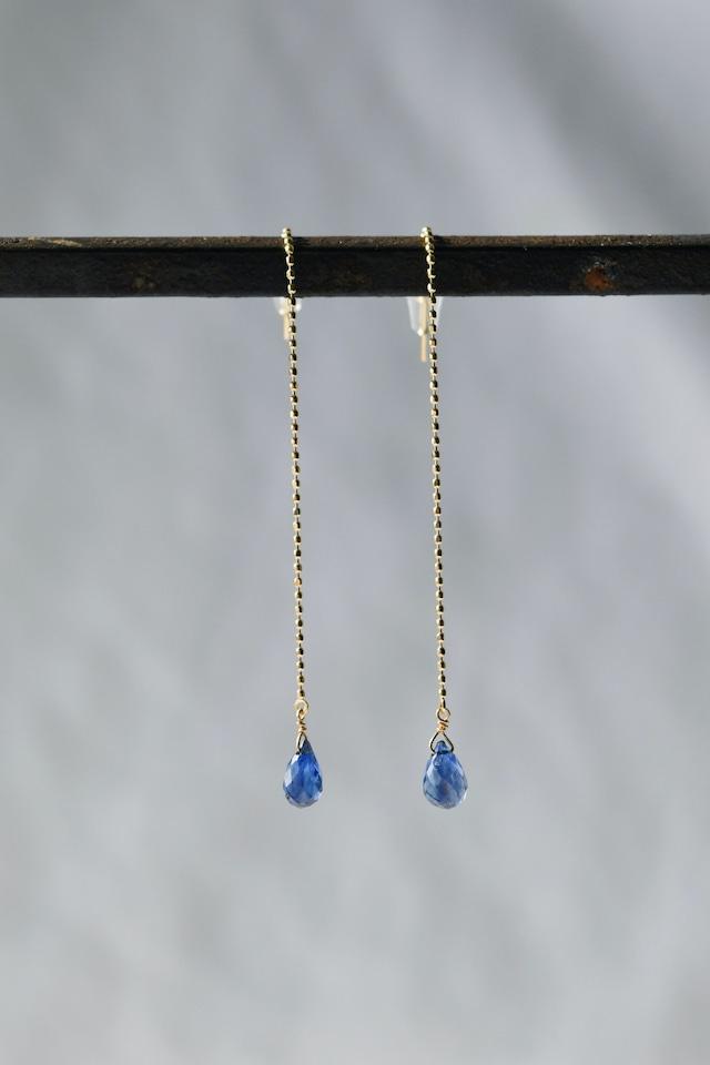K18 Kyanite Long Chain Earrings 18金カイヤナイトロングチェーンピアス/イヤリング