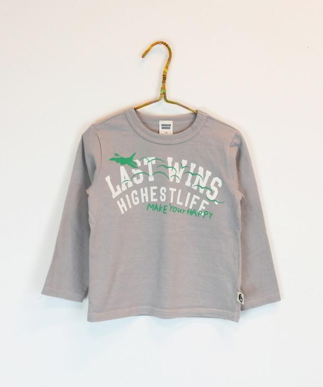飛行機プリントロングTシャツ(日本製)