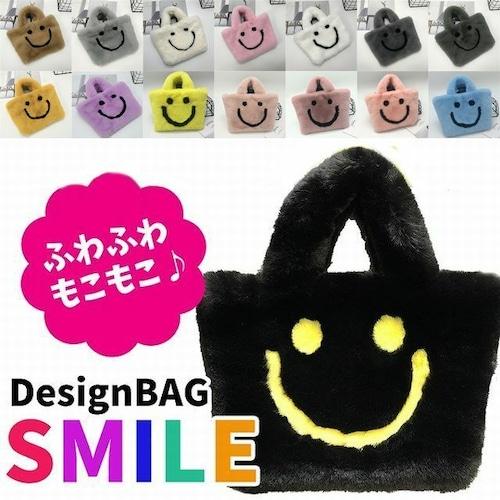 【★送料無料★】スマイル ファーバッグ 韓国ファッション BAG ファー もこもこ ミニ ショルダーバッグ おしゃれ 人気 通勤 サブバッグ DCT-580518208395