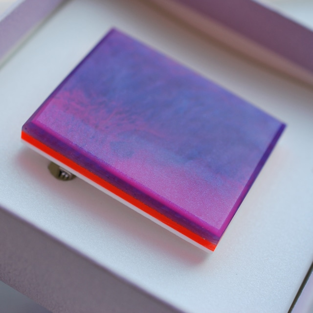Painting stone / Square broach