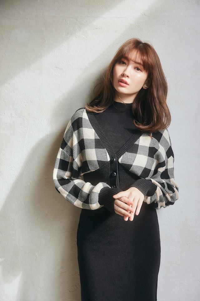 Multi-Way Plaid Knit Dress