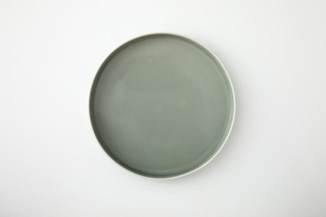平皿:M(グレー・リユース釉薬) / 前野 達郎