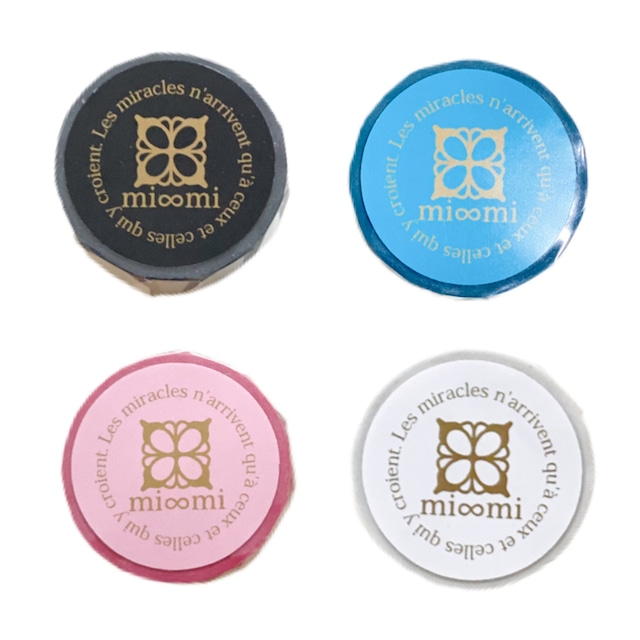 mi∞miオリジナルマスキングテープ(4色セット)