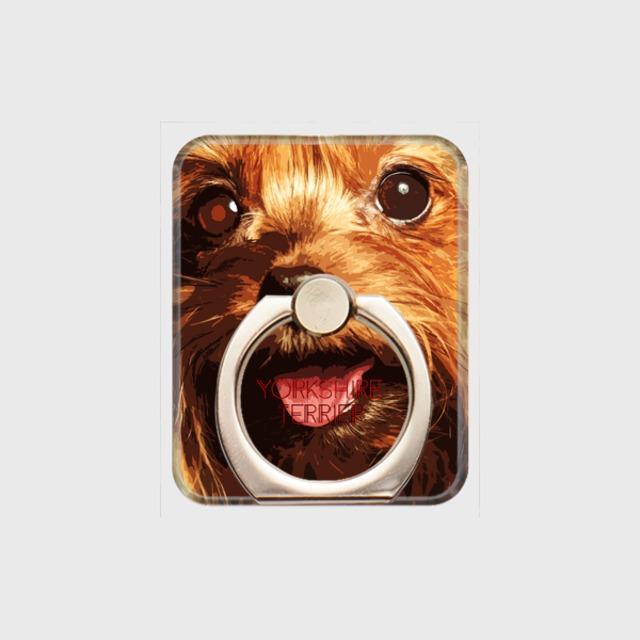 ヨークシャテリア おしゃれな犬スマホリング【IMPACT -color- 】