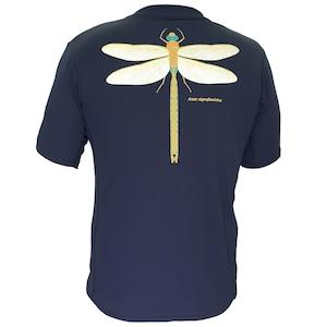 【期間限定2021年8月末まで】P818TSM01 吸水速乾 UV メンズプリントTシャツ (ネイビー)