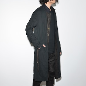 "Leather×Cotton ""Coat"" 〈 Black 〉"