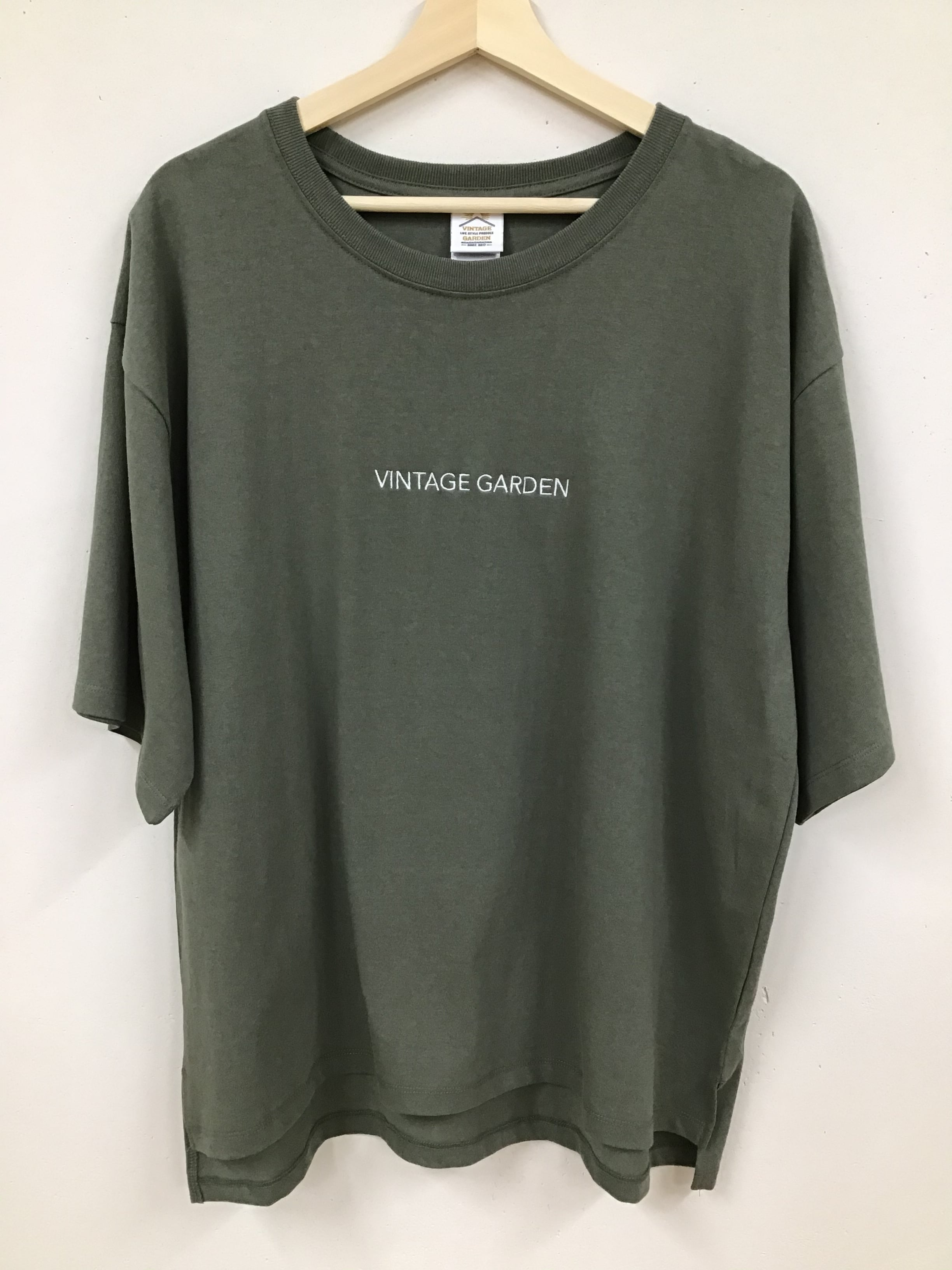 VINTAGE GARDEN シンプルビッグTシャツ(刺繍)
