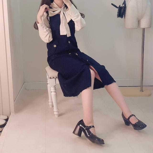 【即納】Iラインロングドレス