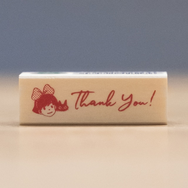 魔女の宅急便 木製スタンプ 45×15(Thank you/7970)