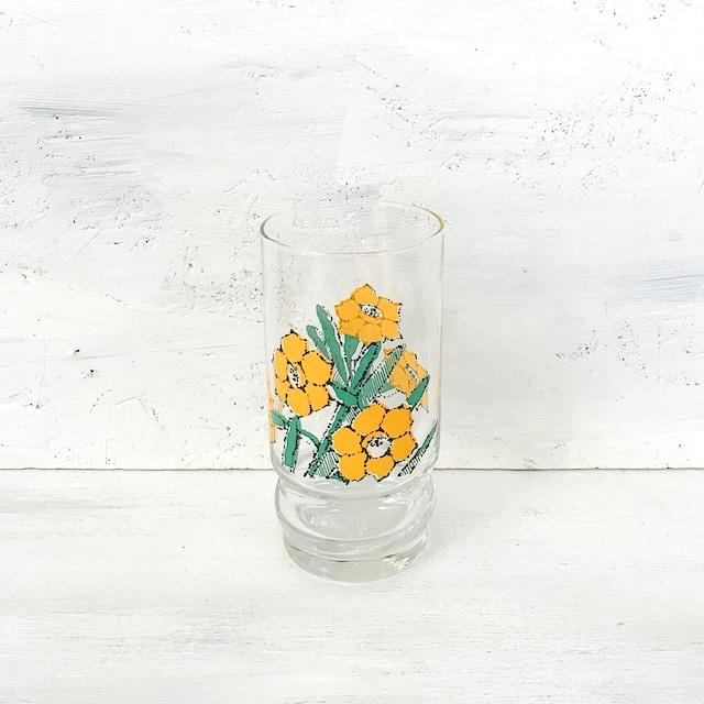 【R-636】レトロ水仙柄グラス