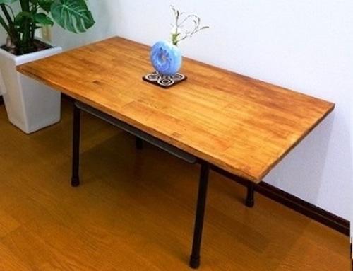 学校机×ローテーブル(パイン材)