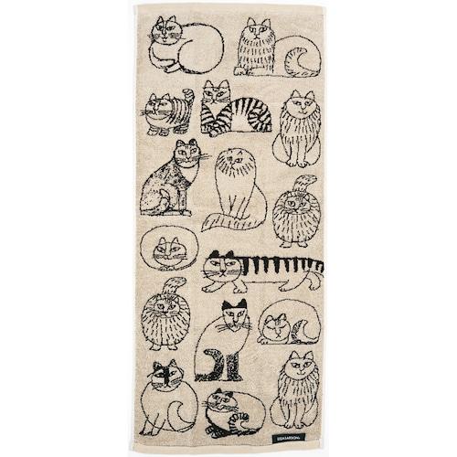 猫フェイスタオル(リサラーソンスケッチキャット)