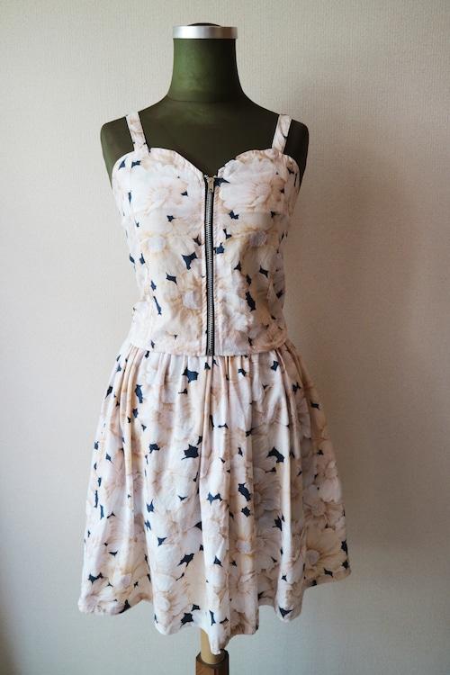 Summer dress set up -WHITE-