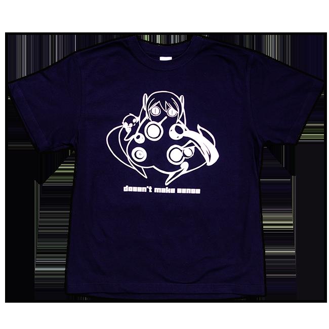 ピノキオピー 意味不明Tシャツ(メンズ / ネイビー) - 画像1