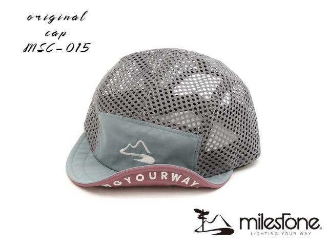 【milestone】 Full mesh cap (Sky Grey)
