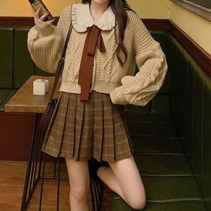 チェックプリーツショートスカート ・18539