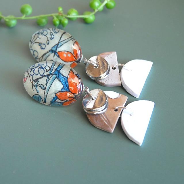 """ Earrings NO.0-1955″リバティとクレイ"