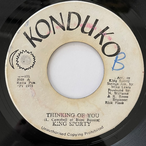 King Sporty - Thinking Of You【7-20766】