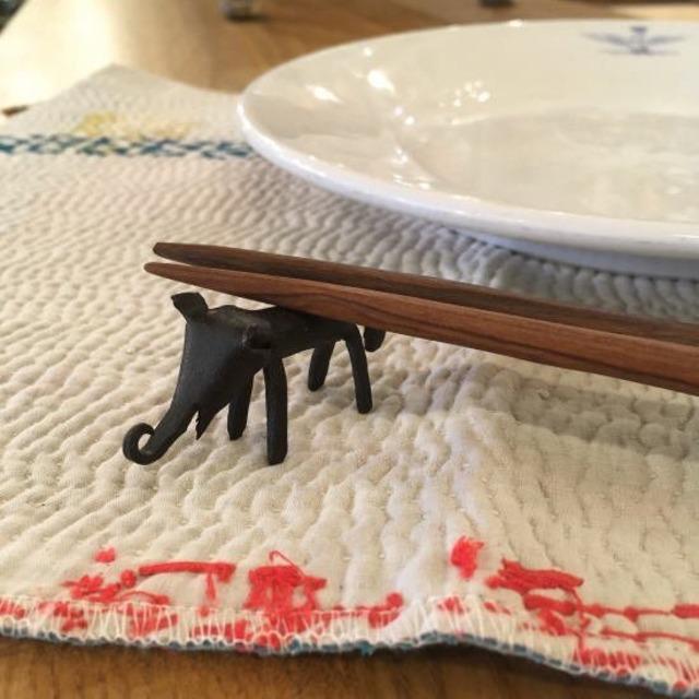 アイアンアニマル箸置き ゾウ