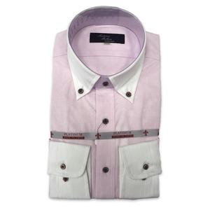 国産ボタンダウンシャツ ピンク