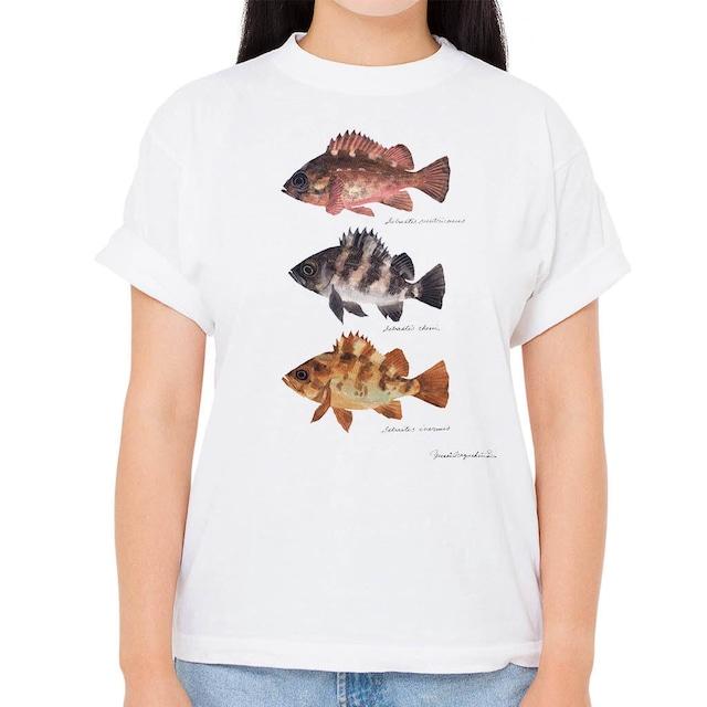 【アカメバル・クロメバル・シロメバル】長嶋祐成コレクション 魚の譜Tシャツ(高解像・昇華プリント)