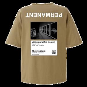 vibeca ポケットTシャツ beige【ワイドフィット】