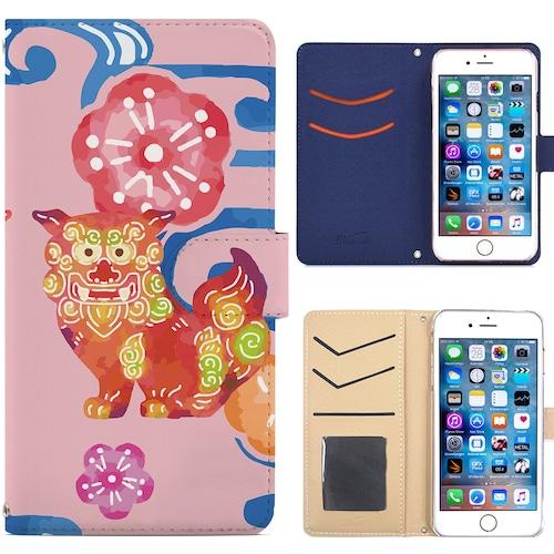 Jenny Desse iPhone SE/iPhone 5/ 5s/ 5c ケース 手帳型 カバー スタンド機能 カードホルダー ピンク(ホワイトバック)