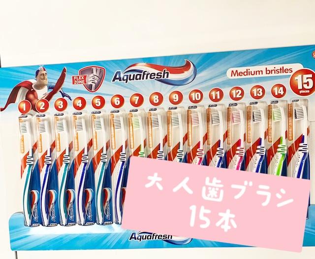 アクアフレッシュ 歯ブラシ15p