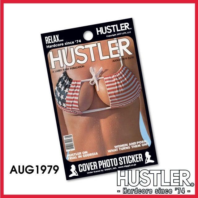 セクシー系金髪お姉ちゃんステッカー・HUSTLER COVER PHOTO STICKER (ハスラーカバーフォトステッカー) / 1979 AUG