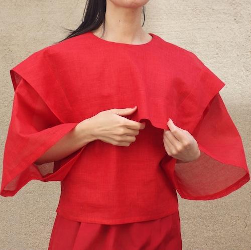 Bell sleeve box cotton shirts