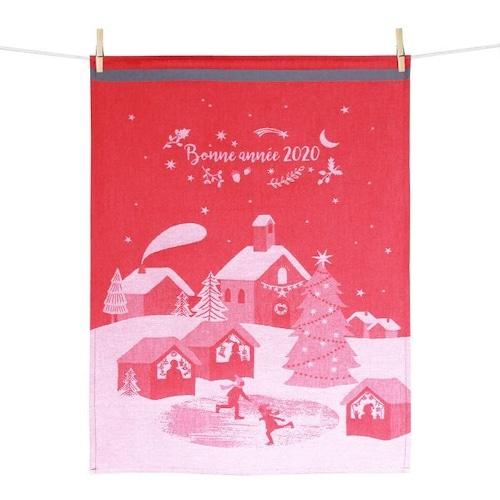 ティータオル クリスマスマーケット Tissage Moutet