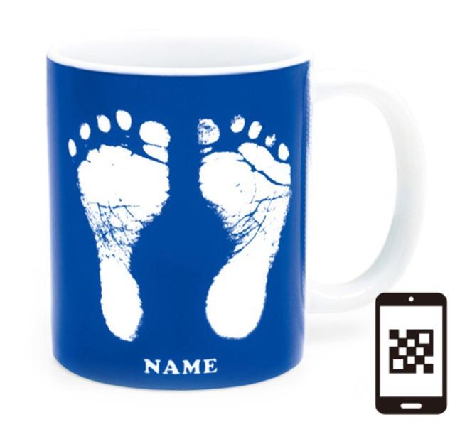 ai mug   A-type (BLUE) QRコード付き
