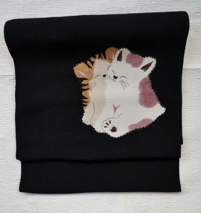 猫染め帯  【定価 217800】