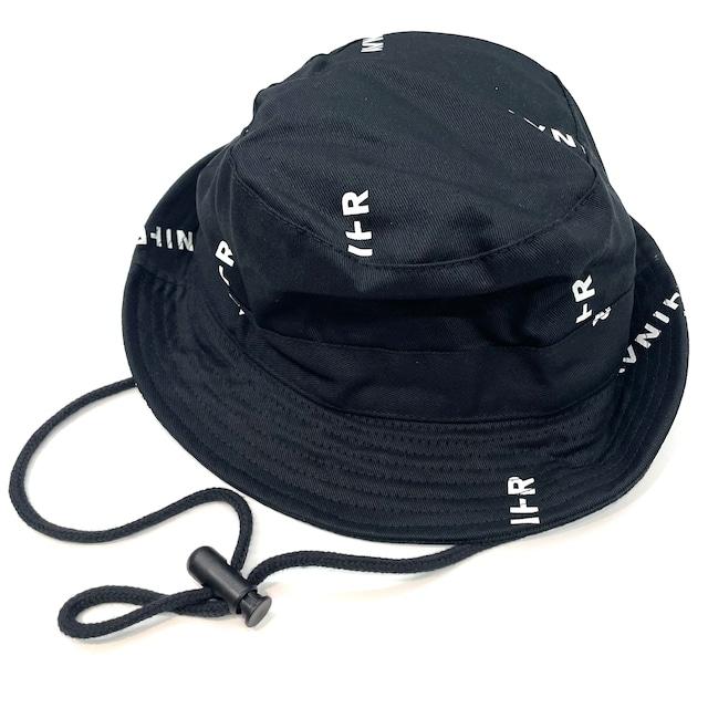 AVNIER PATTERN BUCKET HAT BLACK