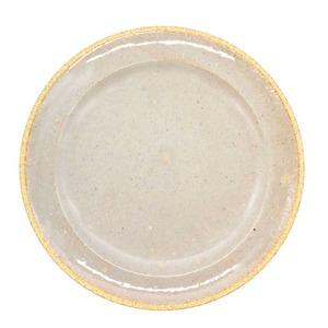 萬古焼 藍窯 モーニングプレート 皿 直径約21cm 「エスタ Esta」 赤土グレー AGM-200105