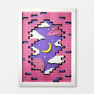 Outside Of The Wall A3 Risograph Print