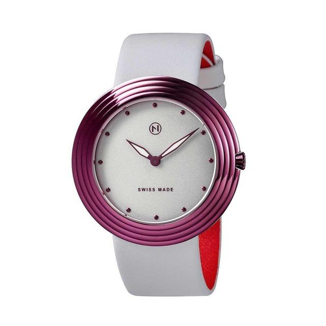 B013-01 Nove ストリームライナー スイス製 腕時計 Women   White Pink