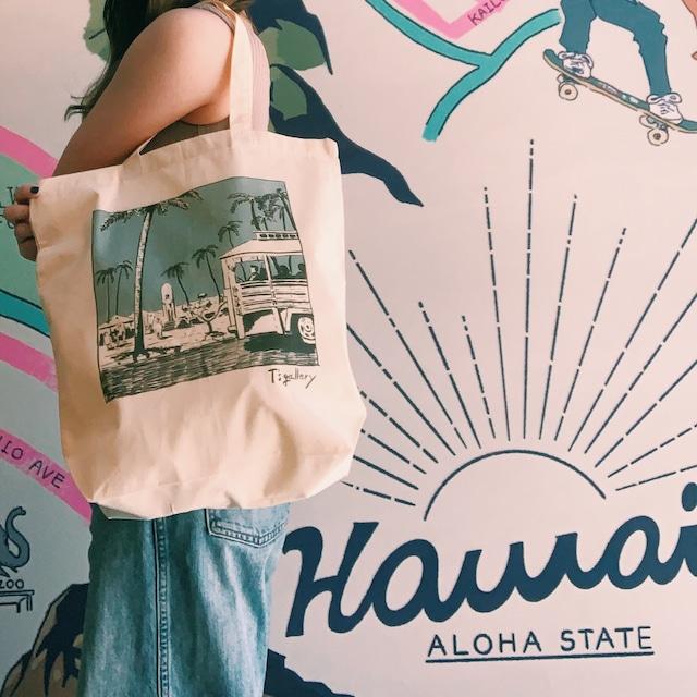 T's gallery オリジナルハワイアントートバッグ 〜hale kipa〜