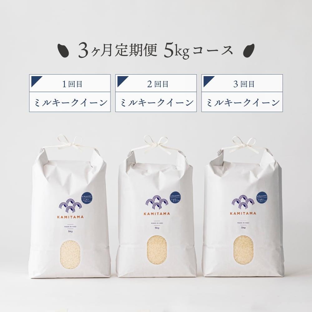 【定期便】令和3年度産 ミルキークイーン5kg 毎月1回お届け(全3回) 送料無料