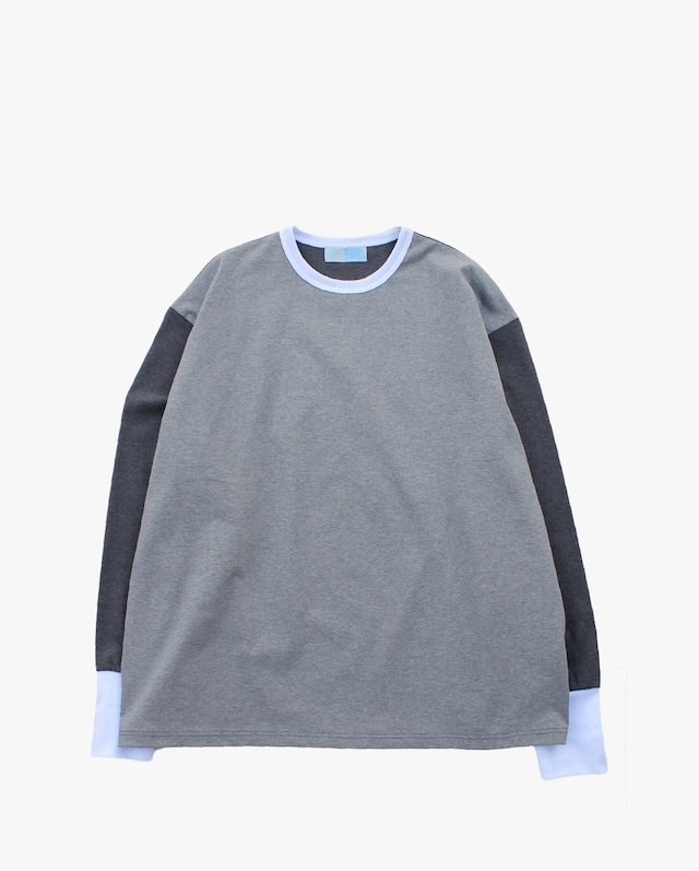 EACHTIME. Trim L/S Tee  Gray