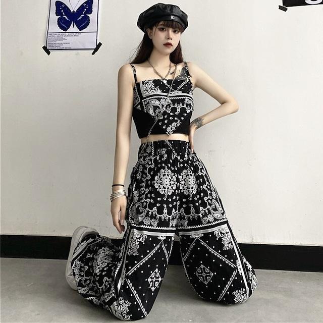 【ボトムス】プリントファッションシンプルカジュアルパンツ44690477