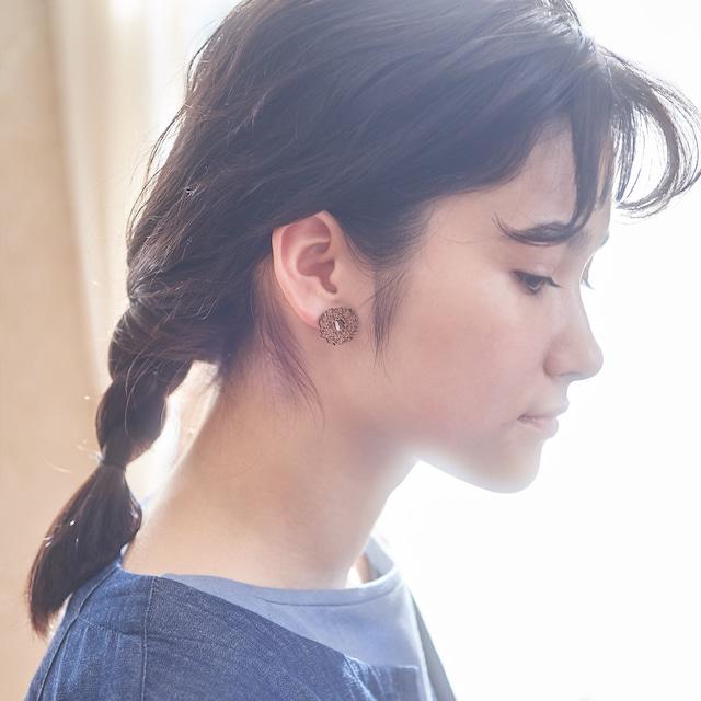mimosa wreath / ミモザリース(Pierced Earring)