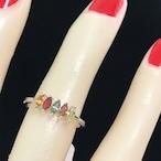 11号 レインボーサファイア 可憐 華奢リング レディース 指輪