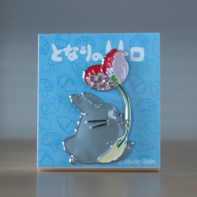 となりのトトロ メタルブローチ(トトロ花 GB-01/5983)