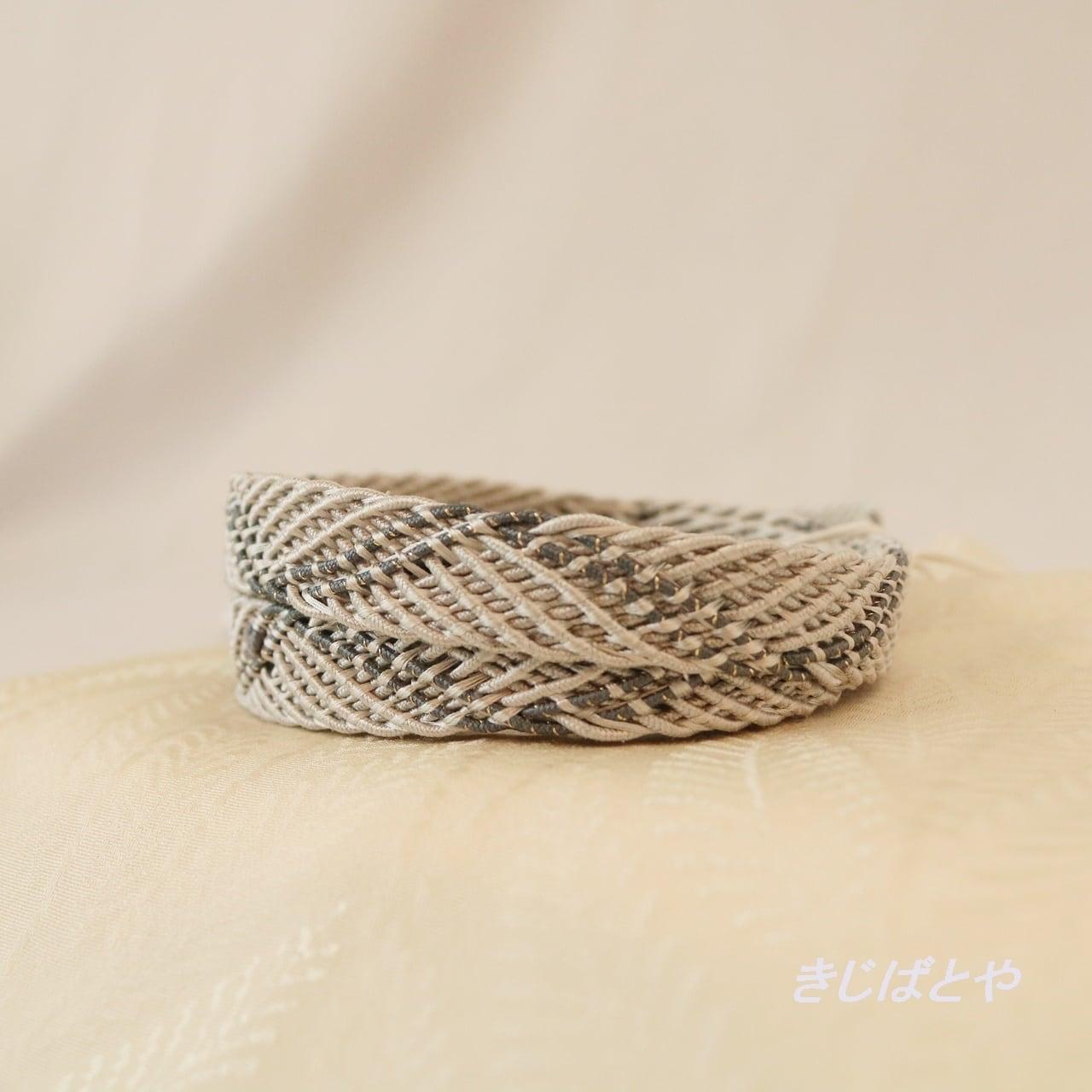 【T様ご予約品】正絹 錫紵(錫紵)の夏の帯締め