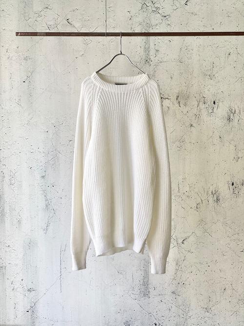 plain white long knit